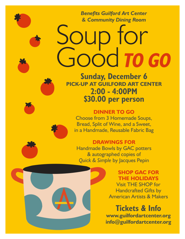 support Guilford Art Center, Soup for Good